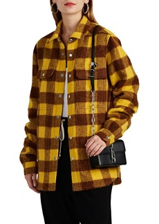 Rick Owens Women's Checked Alpaca-Wool Shirt Jacket