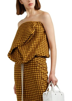 Rick Owens Women's Checked Strapless Bustier Top