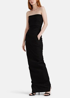 Rick Owens Women's Cotton-Blend Bustier Gown