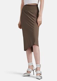 Rick Owens Women's Crepe Midi-Skirt