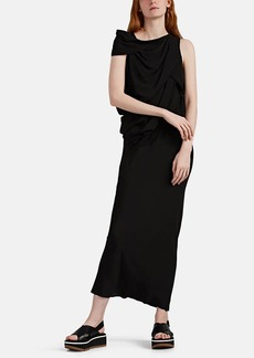 Rick Owens Women's Crêpe De Chine Draped Dress