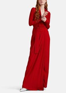 Rick Owens Women's Crêpe De Chine Wrap Gown