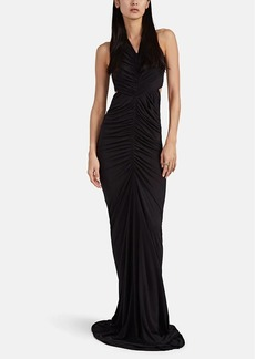 Rick Owens Women's Cutout Ruched Jersey Gown