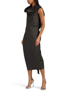 Rick Owens Women's Draped Leather Dress