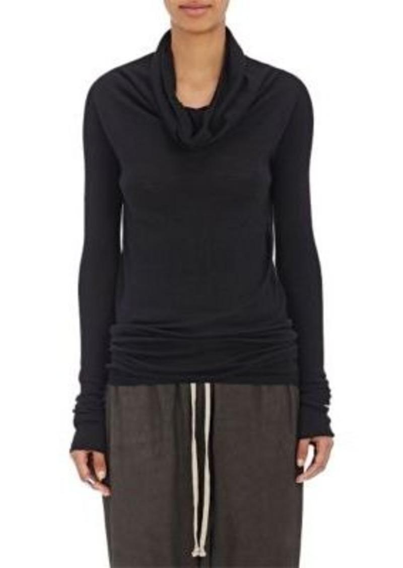 Rick Owens Women's Draped Neck Virgin Wool Sweater