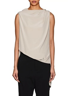 Rick Owens Women's Draped Silk Crêpe De Chine Tunic