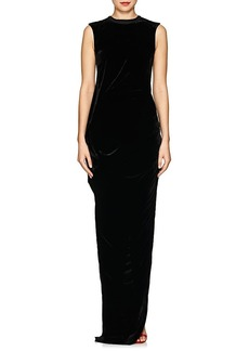 Rick Owens Women's Ellipse Velvet Maxi Dress