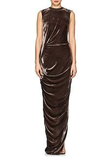Rick Owens Women's Ellipse Velvet Maxi Dress