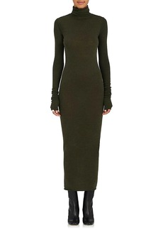 Rick Owens Women's Jersey Turtleneck Midi-Dress