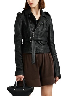 Rick Owens Women's Leather Belted Moto Jacket