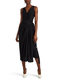 Rick Owens Women's Limo Draped Silk Crepe Short Dress