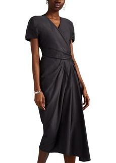 Rick Owens Women's Limo Draped Silk Crepe Short Dress