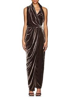 Rick Owens Women's Limo Draped Velvet Wrap Dress