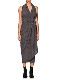 Rick Owens Women's Limo Silk Crepe Wrap Dress
