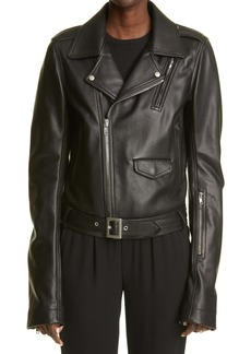 Rick Owens Women's Lukes Stooges Leather Biker Jacket