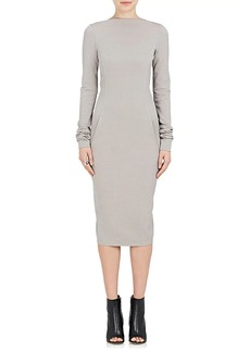 Rick Owens Women's Marella Textured Compact-Knit Fitted Dress