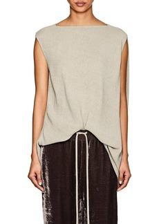 Rick Owens Women's Nouveau Draped-Back Textured Top