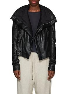 Rick Owens Women's Padded Blistered-Leather Biker Jacket