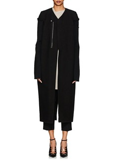 Rick Owens Women's Ribbed-Sleeve Felted Wool-Blend Coat