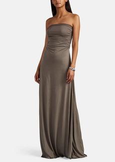 Rick Owens Women's Ruched Jersey Strapless Dress