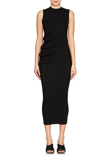 Rick Owens Women's Ruched-Side Compact Knit Body-Con Dress