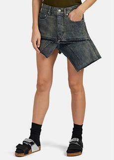 Rick Owens Women's Sisy Asymmetric Denim Miniskirt
