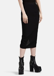 "Rick Owens Women's ""Soft Pillar"" Crepe Skirt"