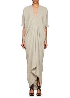 Rick Owens Women's Textured-Weave V-Neck Tunic