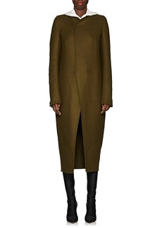Rick Owens Women's Tusk Wool-Blend Collarless Coat