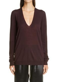 Rick Owens Women's V-Neck Wool Sweater