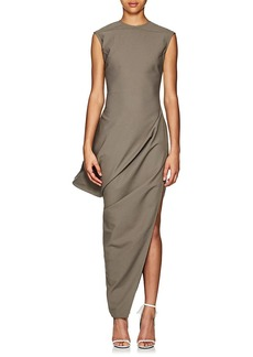 Rick Owens Women's Walrus Crepe Asymmetric Dress