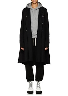 Rick Owens Women's Wool-Blend Double-Breasted A-Line Coat