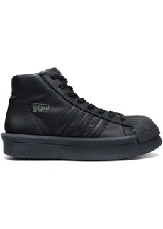 Rick Owens X Adidas Woman Mastodon Pro Leather High-top Sneakers Black