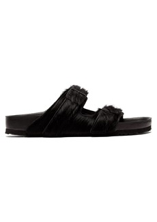 Rick Owens X Birkenstock Arizona calf-hair sandals