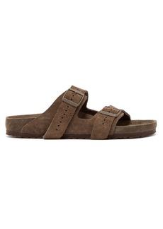 Rick Owens X Birkenstock Arizona suede sandals