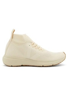 Rick Owens X Veja ribbed-cuff knitted-upper trainers