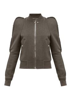 Rick Owens Zionic puff-shoulder cashmere bomber jacket