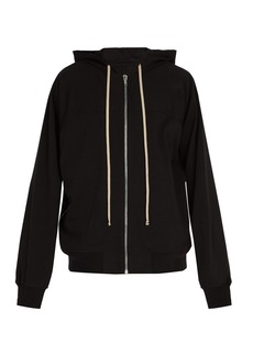 Rick Owens Zip-through cotton jersey hooded sweatshirt