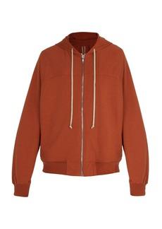 Rick Owens Zip-through cotton-jersey hooded sweatshirt