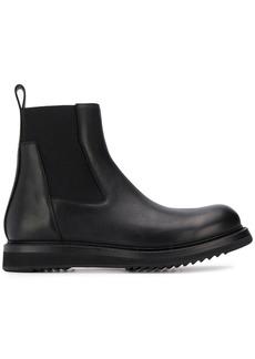 Rick Owens ridged sole Chelsea boots