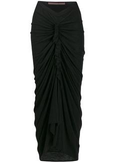 Rick Owens ruched draped skirt