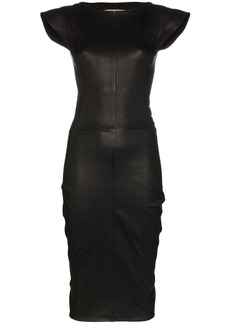 Rick Owens Sarah stretch-leather midi dress