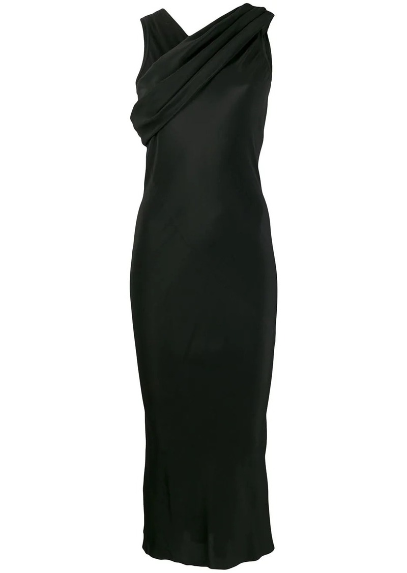 Rick Owens satin draped dress