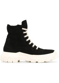 Rick Owens Shearling sneaker boots