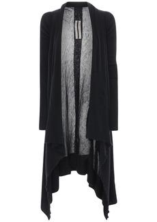 Rick Owens Sheer Cashmere Rib Knit Cardigan
