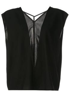 Rick Owens sheer front panel blouse