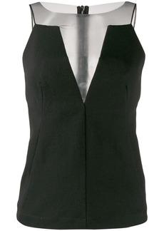 Rick Owens sheer-panelled crepe blouse
