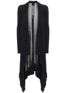 Rick Owens Sheer Wool Rib Knit Cardigan