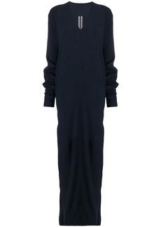 Rick Owens side-slit maxi dress