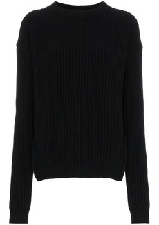 Rick Owens side slit ribbed jumper